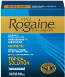 Rogaine for Men Hair Regrowth Treatment, Extra Strength Original Unscented, Set of 3, 2-Ounce Bottles
