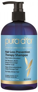 pura d'or Hair Loss Prevention Therapy Shampoo, 16 Fluid Ounce